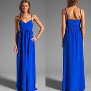 Amanda Uprichard Silk Maxi Royal Blue Size Small
